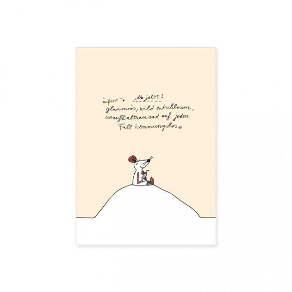 "Postkarte ""Äußerst glamourös"""
