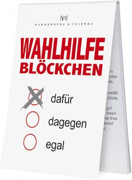 """Spieleblöckchen """"Wahlhilfe Blöckchen"""""""
