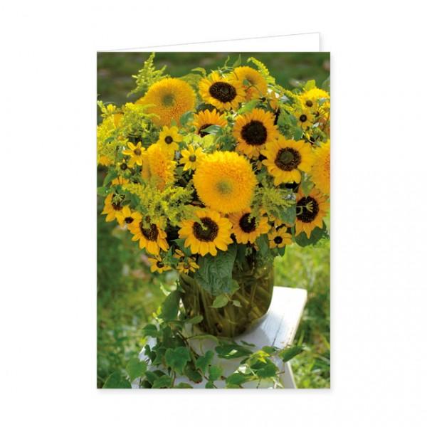 """Doppelkarte """"Sonnenblumenstrauß"""""""