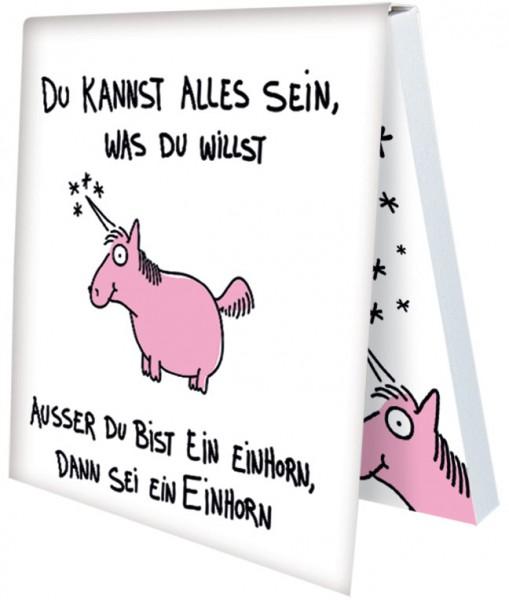 Klebezettel 'Sei ein Einhorn' von Alexander Holzach