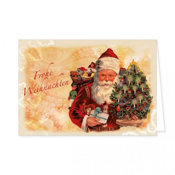 "Doppelkarte Lack X-Mas ""Frohe Weihnachten"""