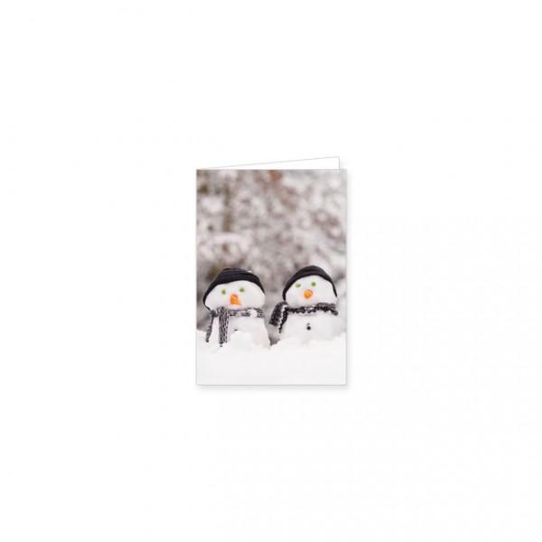 "Mini-Doppelkarte X-Mas ""Auf in den Schnee"""