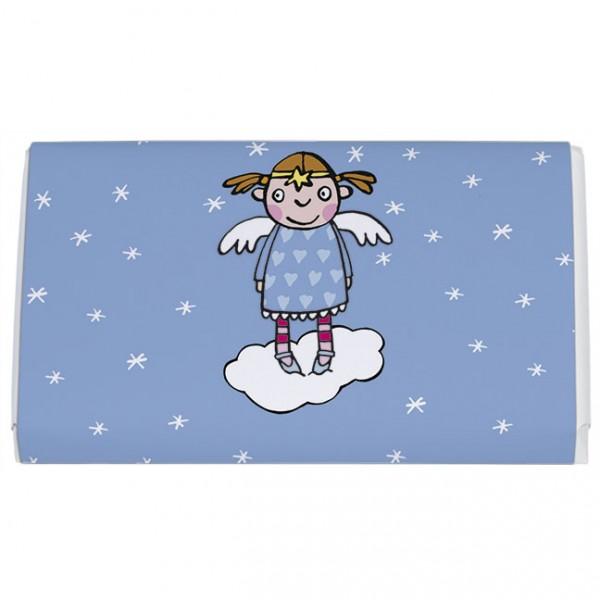 Schokoladentäfelchen 'Engel auf Wolke'