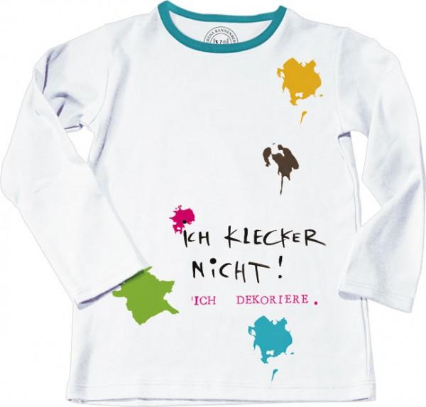 """T-Shirt Kinder 128 """"Ich klecker nicht"""""""