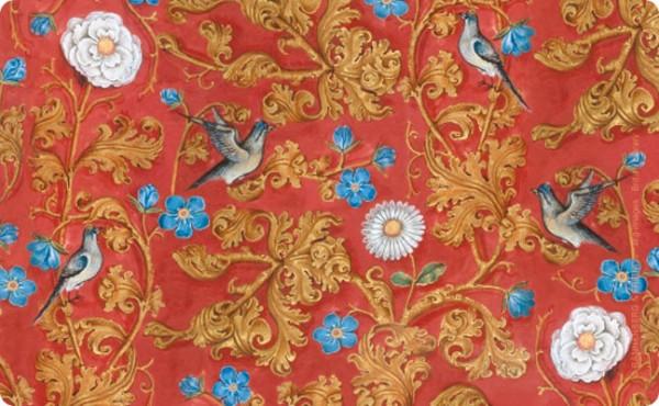 Frühstücksbrettchen 'Breviar der Isabella von Kastilien (rot)'