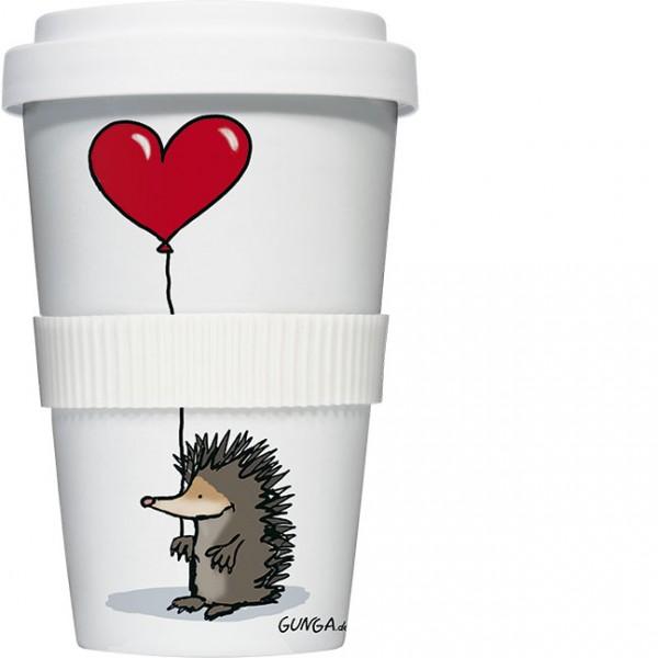 """Coffee to go """"Igel mit Herz"""""""