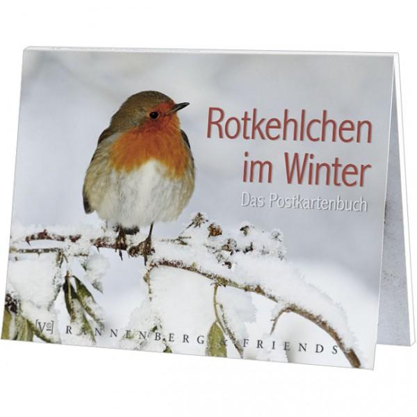 Postkartenbuch 'Rotkehlchen im Winter'