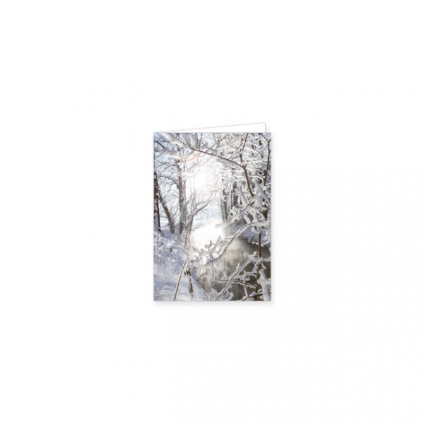 "Mini-Doppelkarte ""Winterlicher Fluß"""