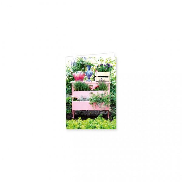 "Mini-Doppelkarte ""Gartenkommode"""