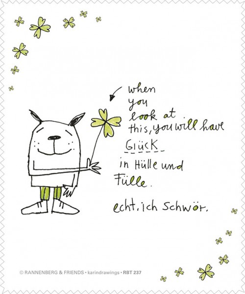 """Brillenputztuch """"Glück in Hülle und Fülle"""""""