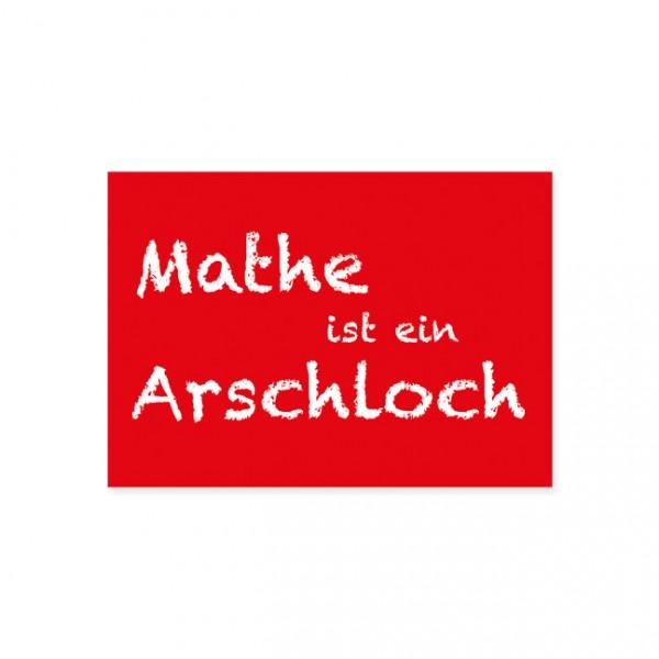 """Postkarte """"Mathe ist ein Arschloch"""""""