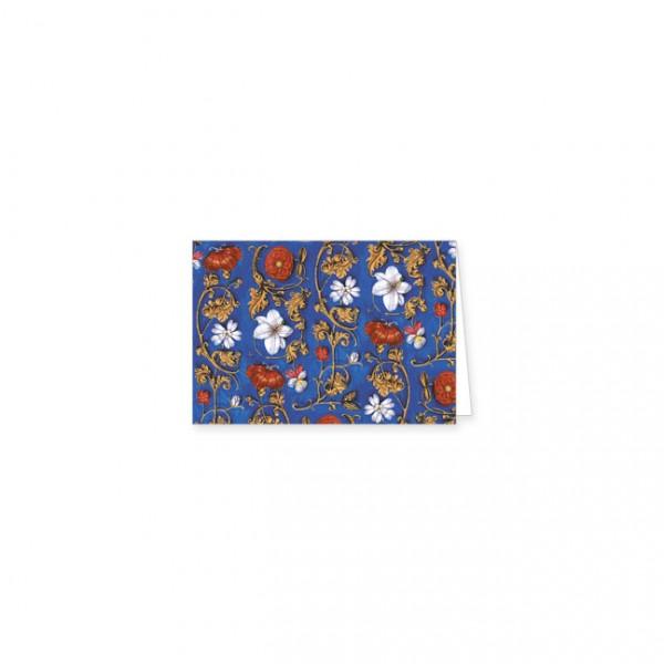 "Mini-Doppelkarten Gold ""Flämische Buchmalerei, Blumenornamente"""