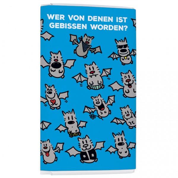 Schokoladentäfelchen 'Für's Hirn Gebissen' von Alexander Holzach
