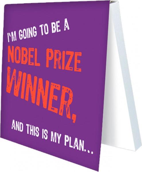 Klebezettel 'Nobel Prize Winner'