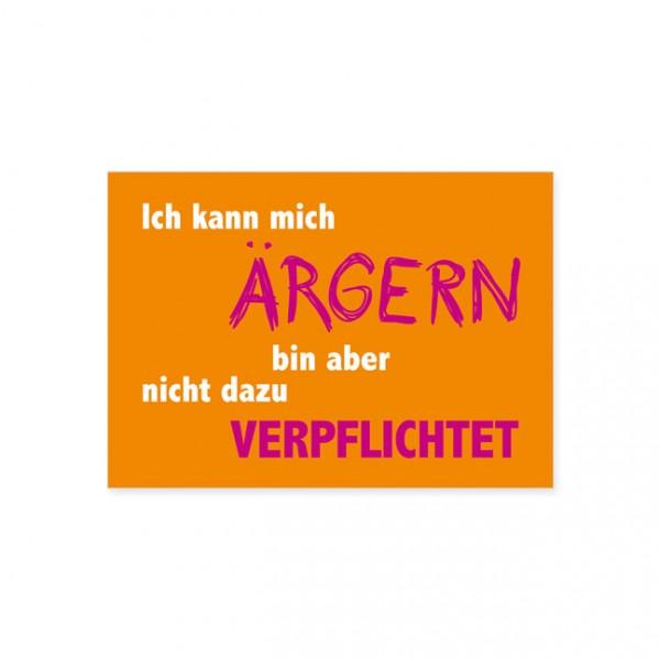 """Postkarte """"Bin nicht verpflichtet"""""""