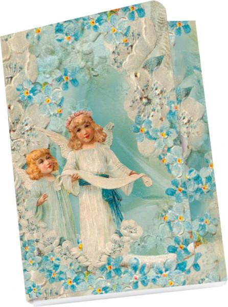 Taschennotizblöckchen 'Nostalgische Engel'