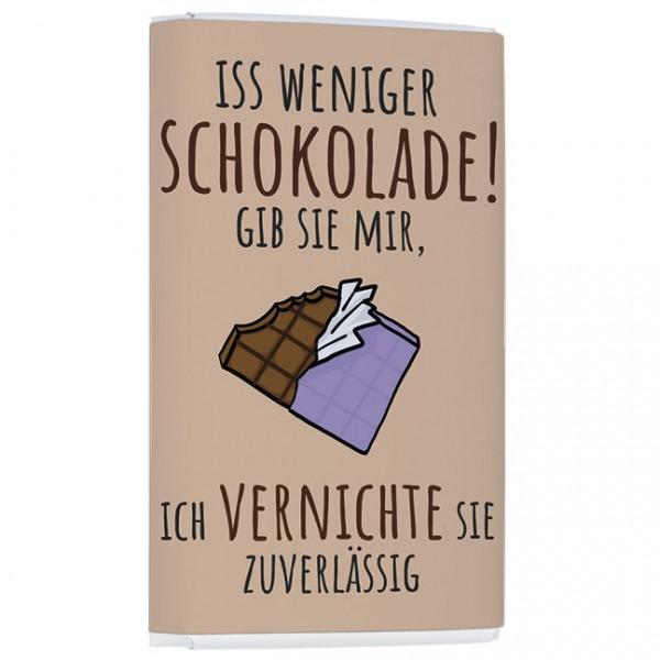 """Schokolade """"Weniger Schokolade"""""""