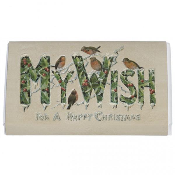 Schokoladentäfelchen Weihnachten 'My wish'