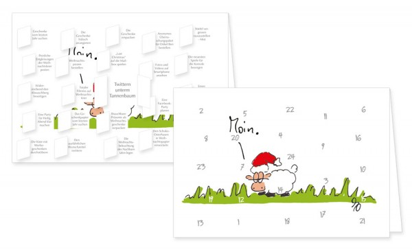 Adventskalenderdoppelkarte 'Moin Weihnachten'