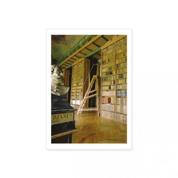 """Postkarte """"Bibliothek des Prämonstratenserklosters Jasov """""""
