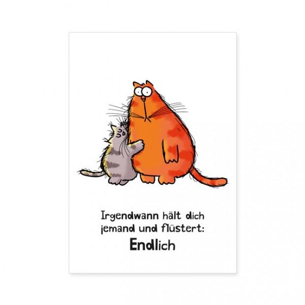 """Postkarten Large """"Catzz - Endlich"""""""