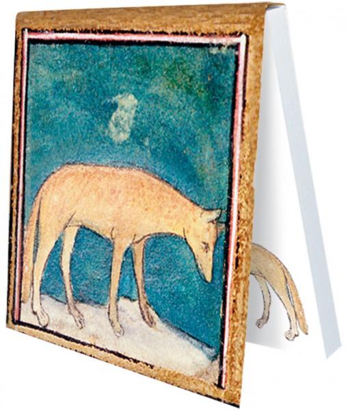 Klebezettel 'Fuchs aus dem Bestiarium' aus Le Livre des Proprietes des Choses