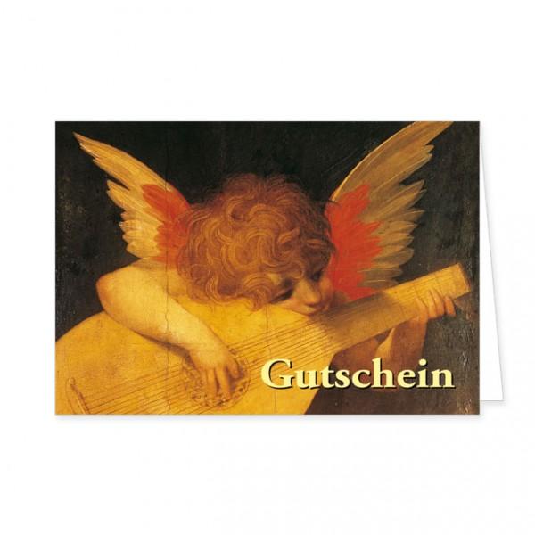 """Geschenk-Gutschein """"Lautenspieler putto"""""""