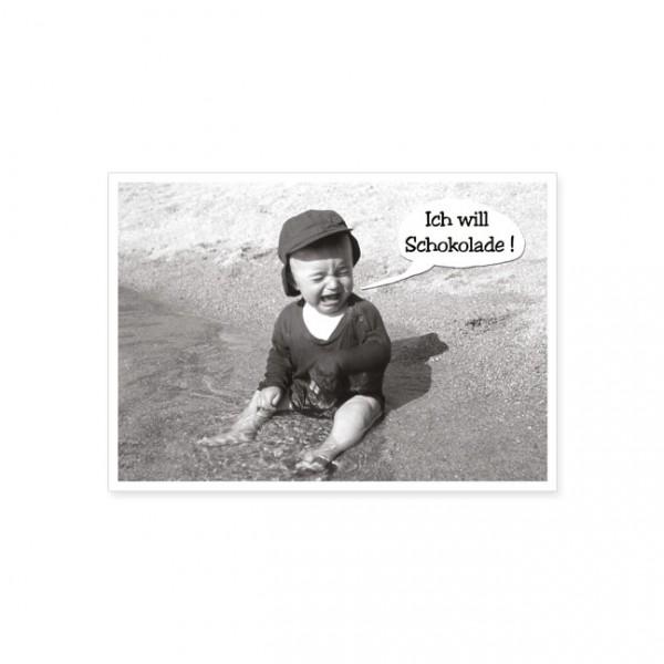 "Postkarte ""Ich will Schokolade!"""