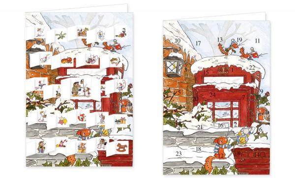 Adventskalenderdoppelkarte 'Tilda – Weihnachtspost'