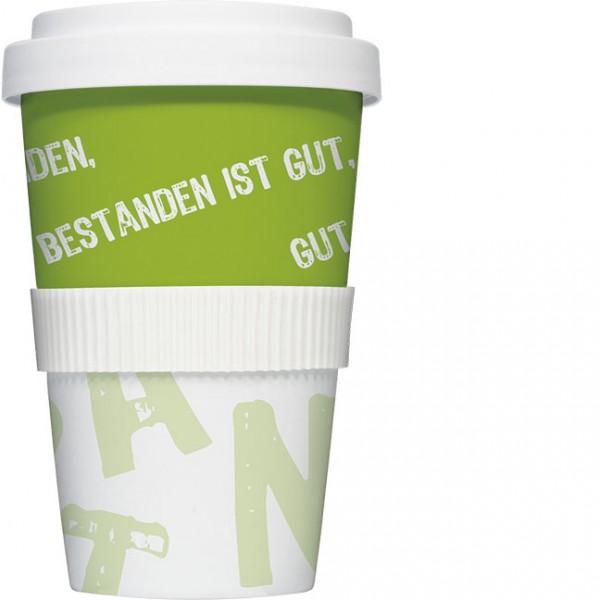 """Coffee to go """"Vier ist bestanden"""""""