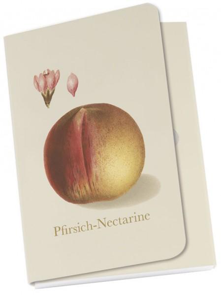 Taschennotizblöckchen 'Pfirsich aus der Deutschen Pomologie'