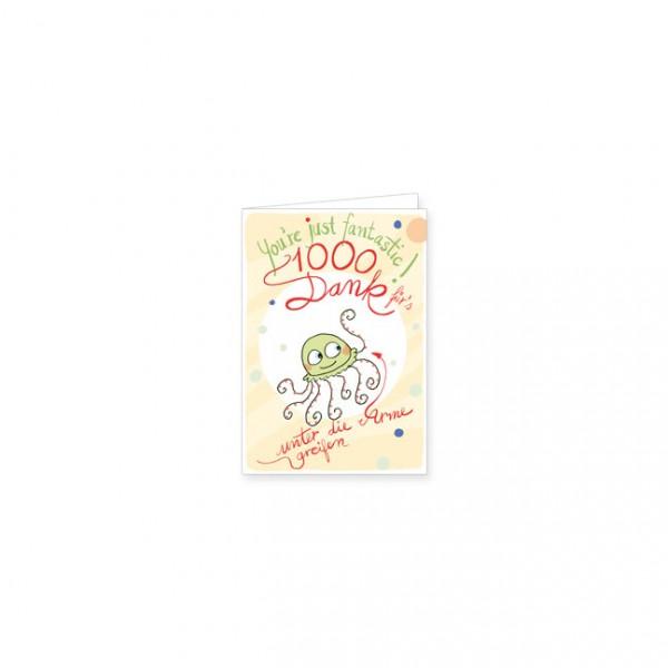 "Mini-Doppelkarte ""1000 Dank"""