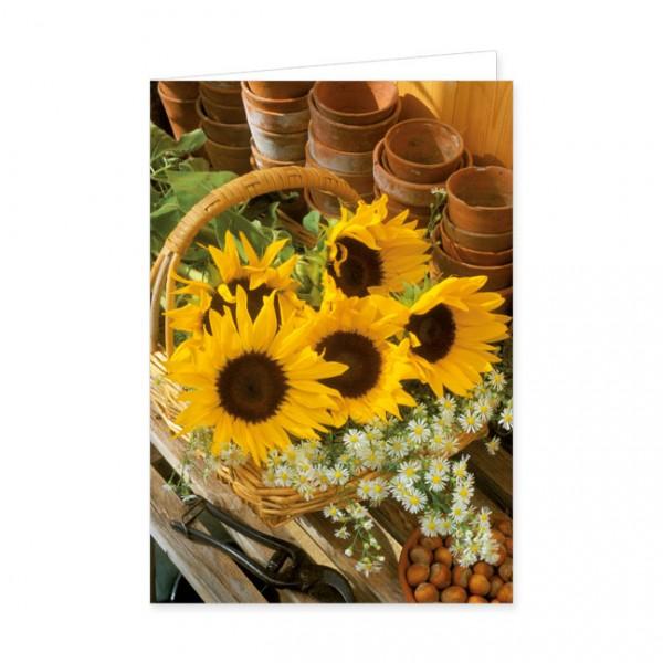 """Doppelkarten """"Sonnenblumenkorb"""""""