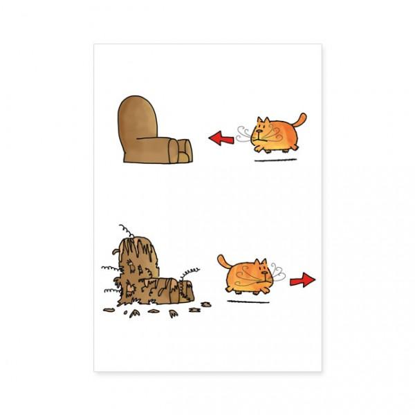 """Postkarten Large """"Catzz - Schöner Wohnen"""""""