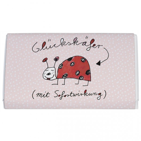 "Schokoladen-Täfelchen ""Glückskäfer"""