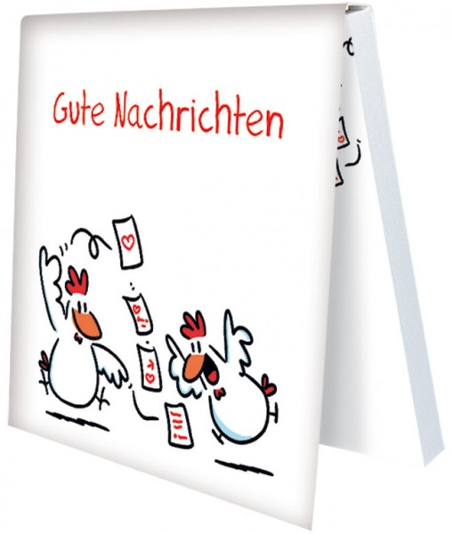 """Klebezettel """"Gute Nachrichten"""""""