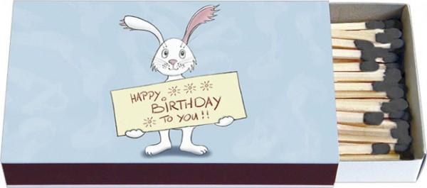 Zündholz-Schachteln 'Happy Birthday'