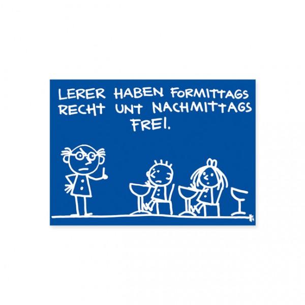 "Postkarte ""lehrer """