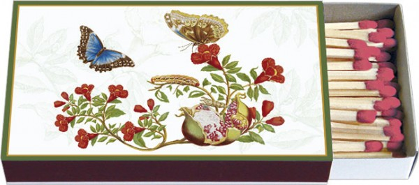 Zündholz-Schachteln 'Maria Sibylla Merian - Himmelsfalter auf Granatapfel'