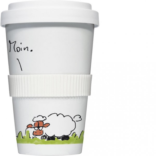 "Coffee to go ""Moin Schaf"""