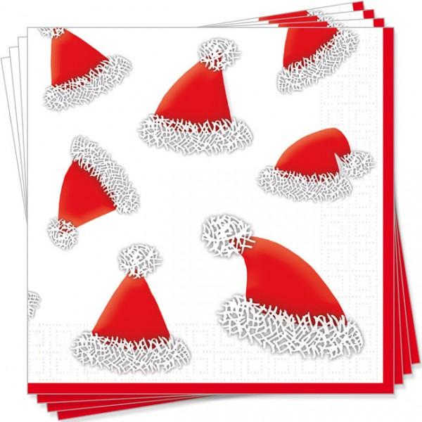 Servietten X-Mas 'Rote Weihnachtsmütze'