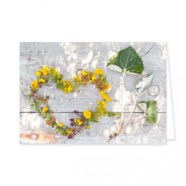 """Doppelkarte """"Sommerblütenherz"""""""