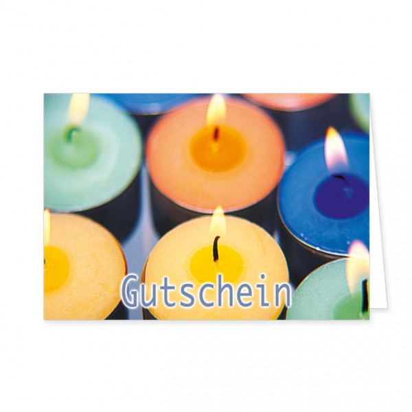 """Geschenk-Gutschein """"Kerzen"""""""