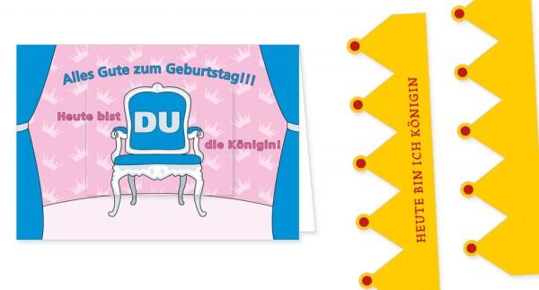 """Türchenkarte """"Heute bist du Königin"""""""