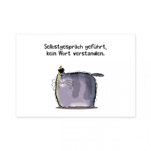 """Postkarten Large """"Catzz - Nichts verstanden"""""""