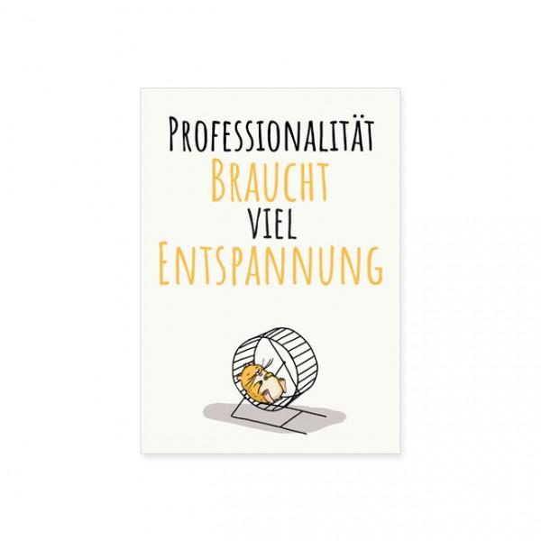 "Postkarte "" Professionalität """