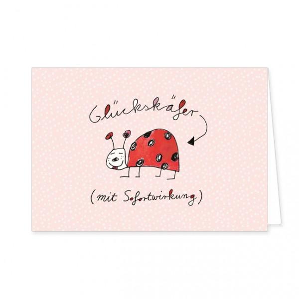 "Doppelkarte ""Glückskäfer"""