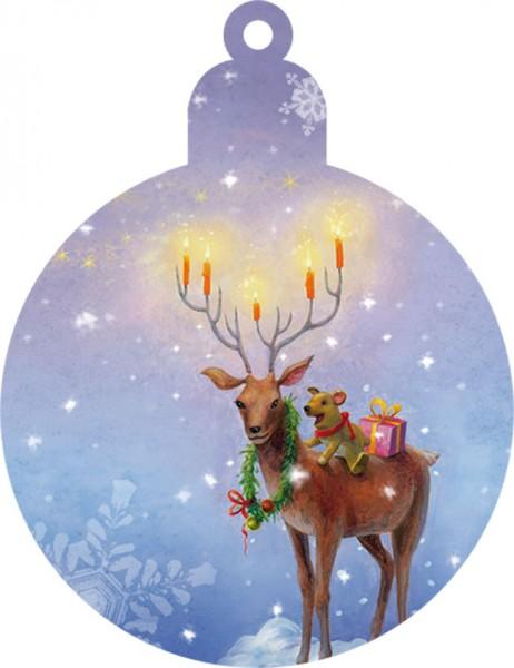 """Geschenk-Anhänger """"Weihnachtshirsch"""""""