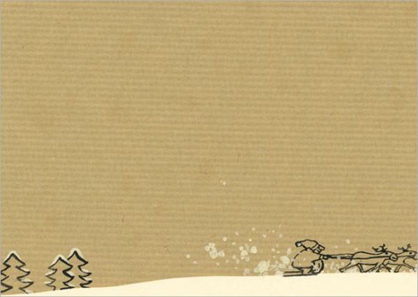"""Postkarte X-Mas """"Reise durch den Schnee"""""""