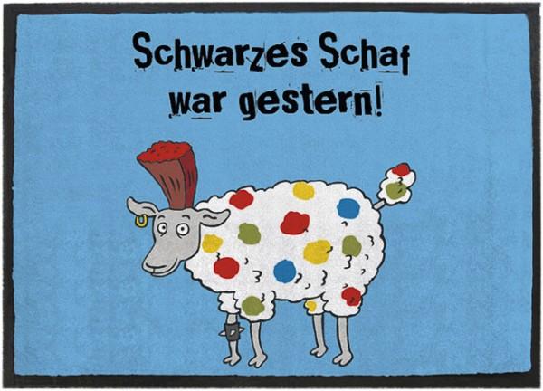 Fußmatte 'Schwarzes Schaf'